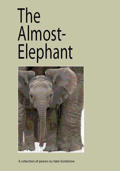 My ebooks - The front cover of a poetry ebook called The Almost-Elephant